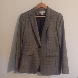 H&M grey plaid blazer